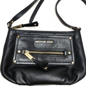 Michael Kors Gilmore Black Leather Crossbody